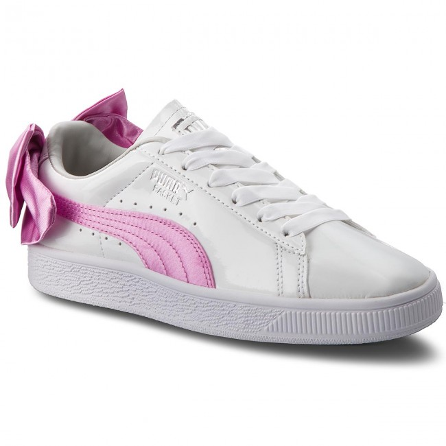 Sneakersy PUMA - Basket Bow Patent Jr 367621 02 Puma White/Orchid/Gray