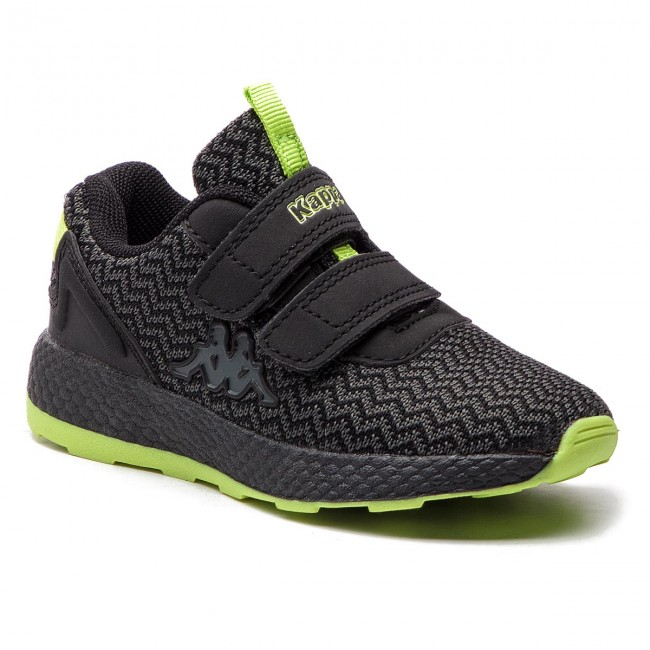 Sneakersy KAPPA - Result II Knt K 260650K Black/Lime 1133
