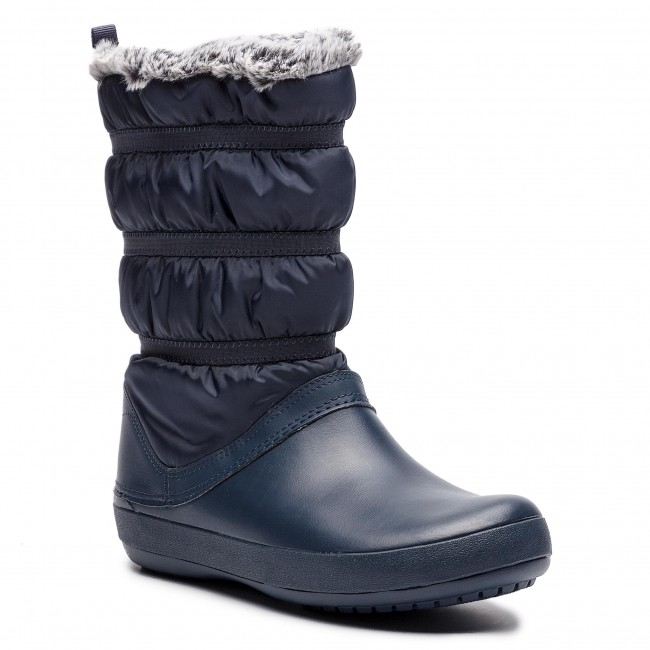 Śniegowce CROCS - Crocband Winter Boot W 205314 Navy
