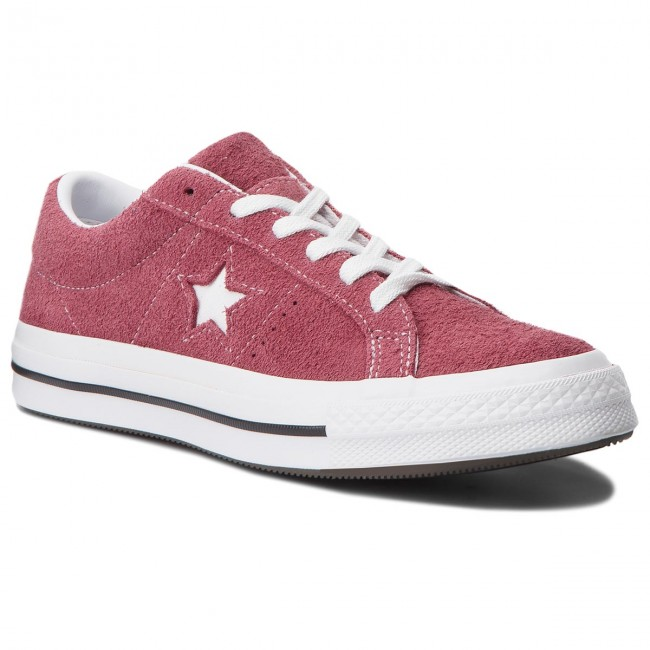 Tenisówki CONVERSE - One Star Ox 158370C Deep Bordeaux/White/White