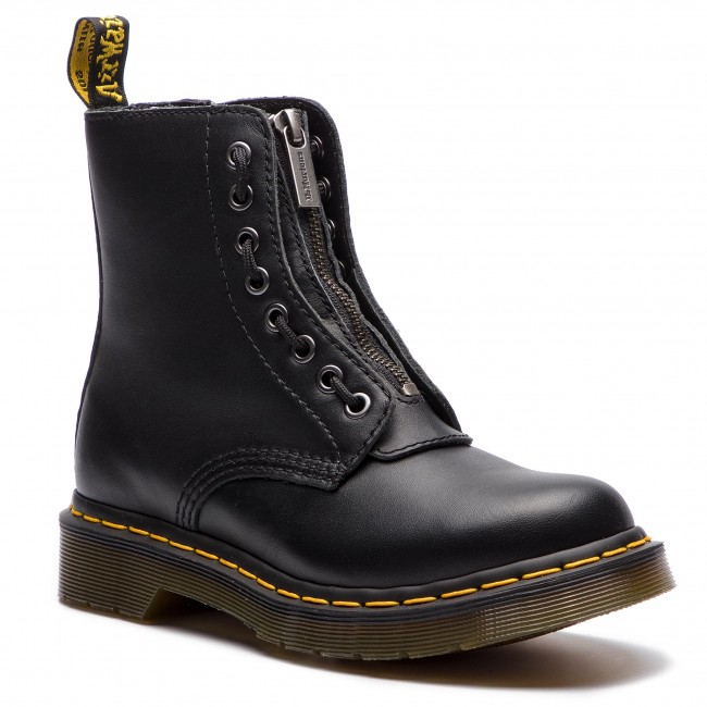 Glany DR. MARTENS - 1460 Pascal Frnt Zip 23863001 Black Nappa