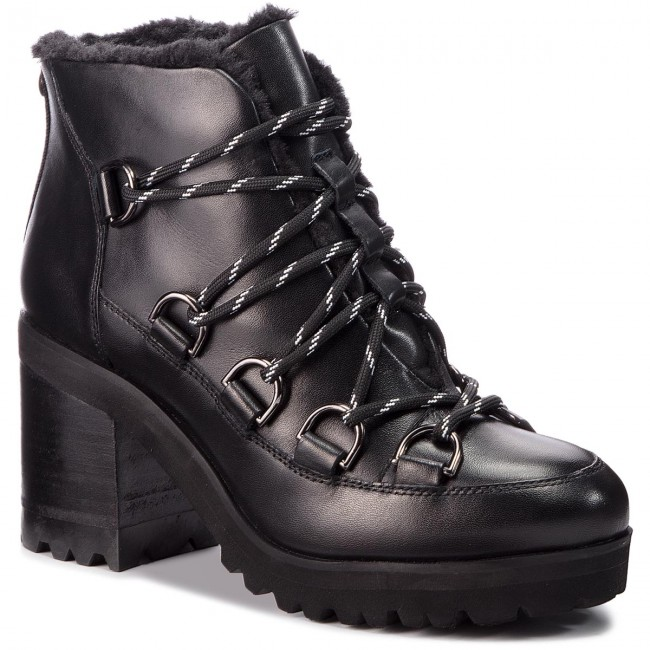 Botki STEVE MADDEN - Zana Biker Boot SM11000236-03001-017 Black Leather