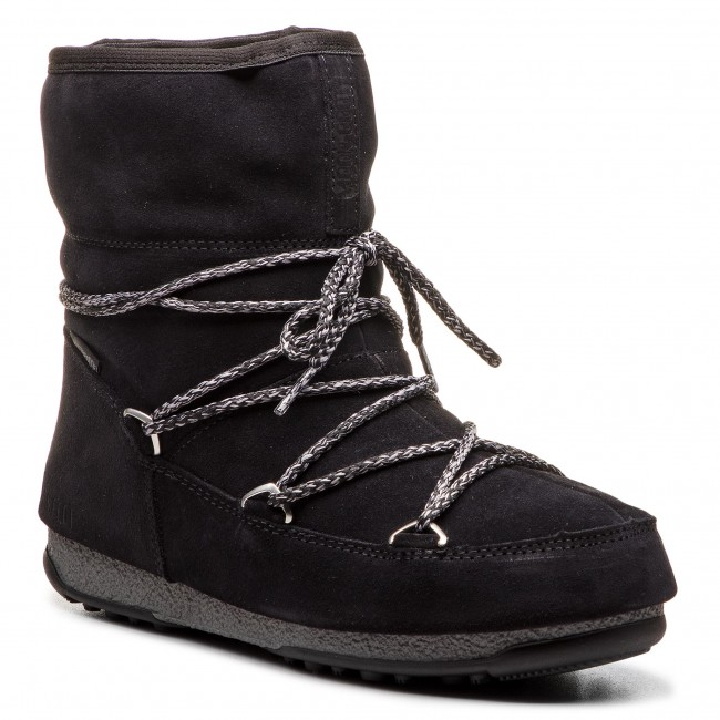 Śniegowce MOON BOOT - W.E. Low Suede WP. 24008300001 Nero