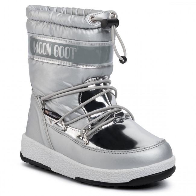 Śniegowce MOON BOOT - W.E. Jr Girl Soft Wp 34051700003 Silver