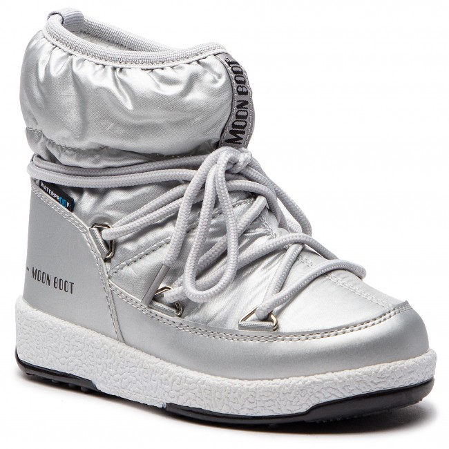 Śniegowce MOON BOOT - Jr Girl Low 34051800002 Silver Met.