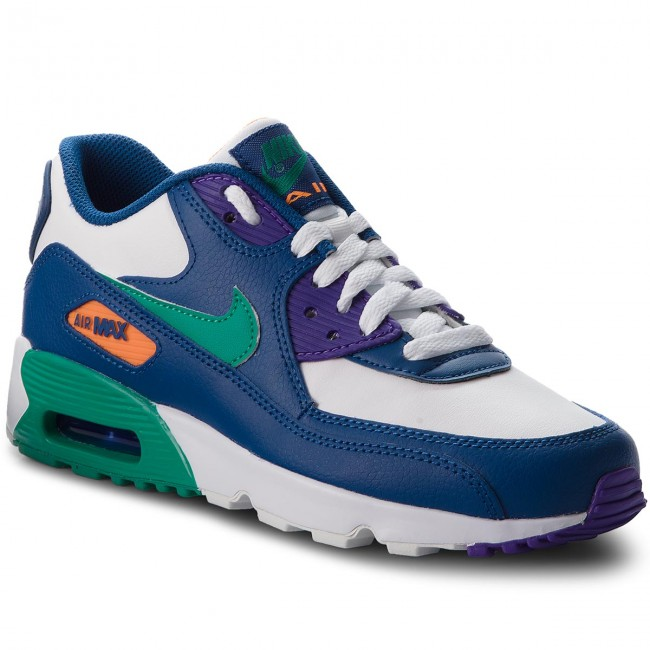 Buty NIKE - Air Max 90 Ltr (GS) 833412 410 Gym Blue/Neptune Green/Cone
