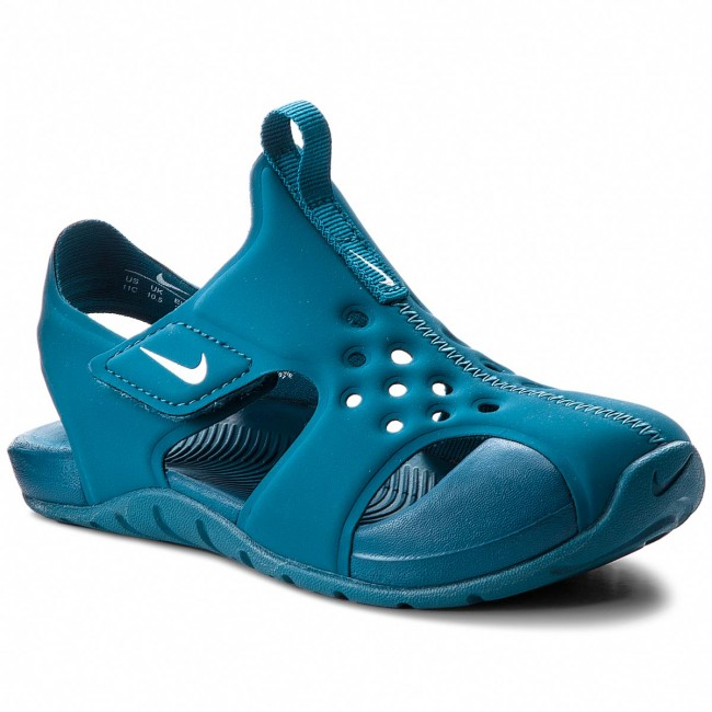 36aa2325 Босоніжки NIKE - Sunray Protect 2 (PS) 943826 301 Green Abyss/White ...