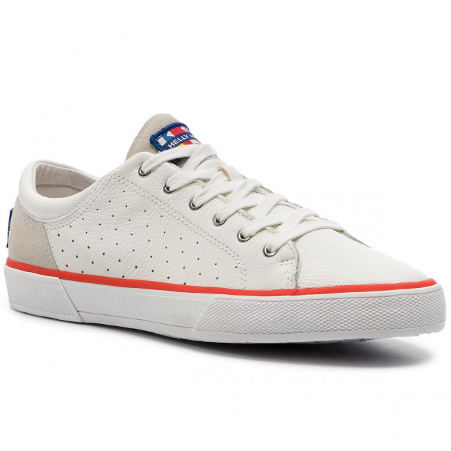 Tenisówki HELLY HANSEN - Copenhagen Leather Shoe 115-02.011 Off White/Alert Red/Light Grey