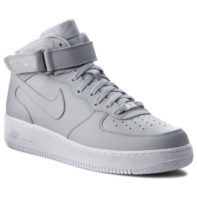 nike air force 1 mid damskie grey red