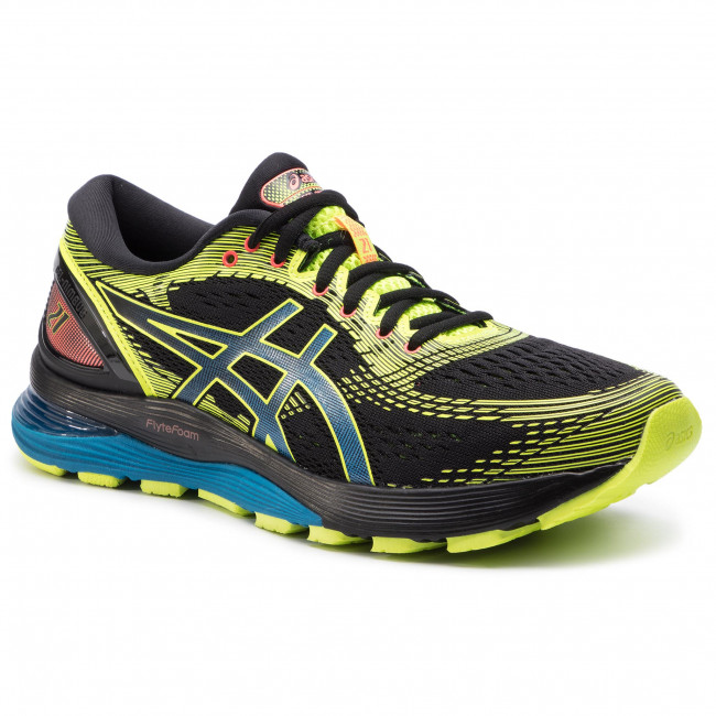 2b477b0c Buty ASICS - Gel-Nimbus 21 Sp 1011A589 Black/Safety Yellow 001