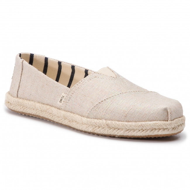 Espadryle TOMS - Classic 10013508 Natural Realized Metallic Woven
