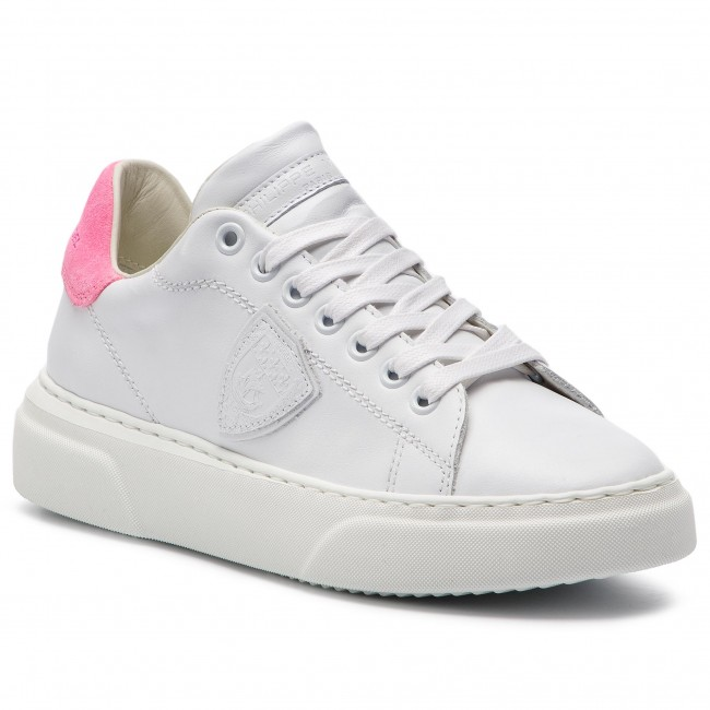 Sneakersy PHILIPPE MODEL Temple Femme BGLD VN01 Veau Neon Blanc Fucsia