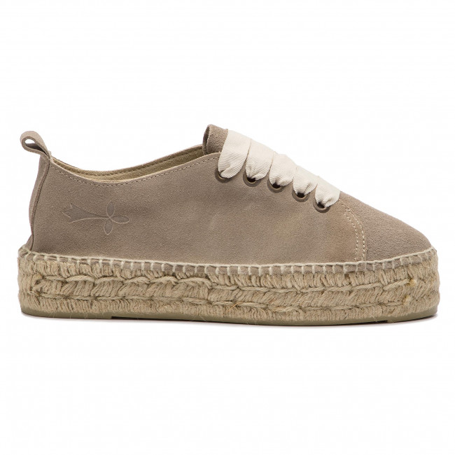 Espadryle MANEBI Sneakers D W 1.9 E0 Vintage Taupe Suede