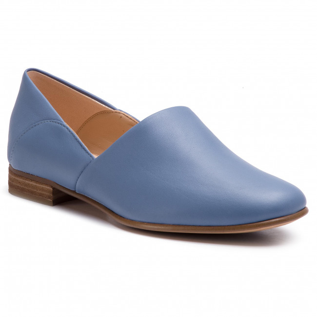 Półbuty CLARKS - Pure Tone 261396354 Mid Blue Leather