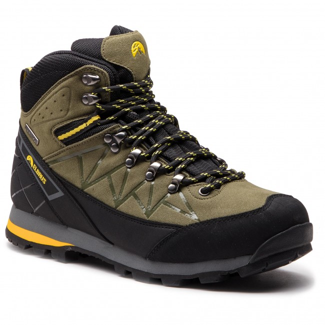 Trekkingi ELBRUS - Muerto Mid Wp Light Khaki/Black/Yellow