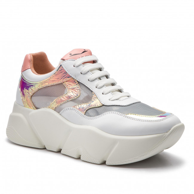 Sneakersy Voile Blanche - Monster Mesh 0012013592.03.1n02 Bianco/argento Półbuty Damskie