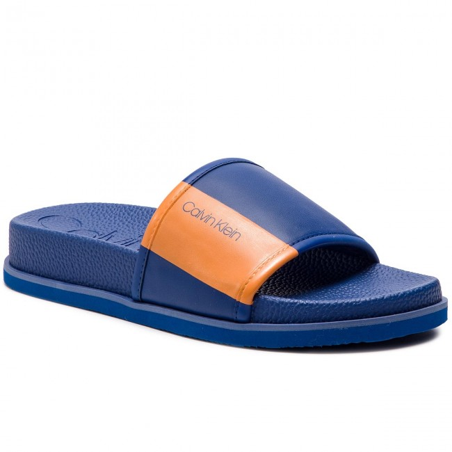 Klapki CALVIN KLEIN - Mackee F0985 Royal Blue/Orange Po