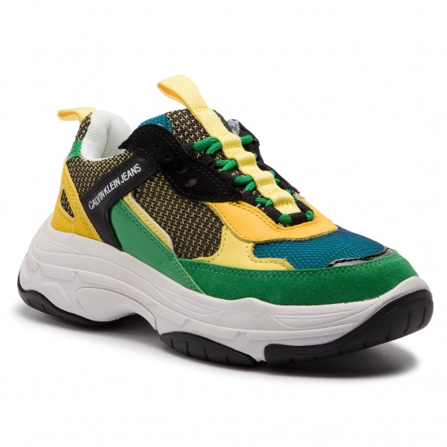Sneakersy CALVIN KLEIN JEANS - Maya R7798 Black/Green/Lemon
