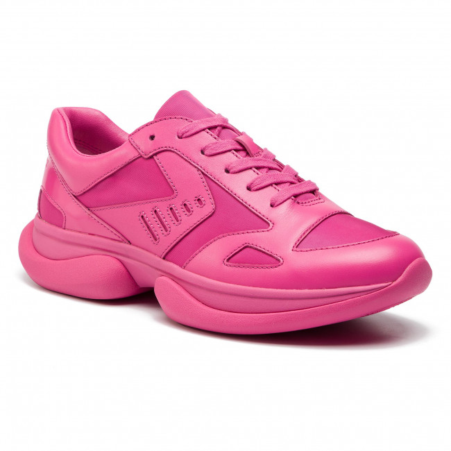 Sneakersy TORY BURCH - Bubble Lace Up Sneakers 55119 Bright Pink/Bright Pink 654