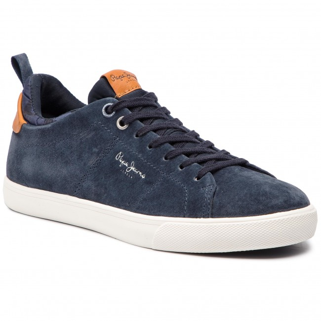 Sneakersy PEPE JEANS - Marton Suede PMS30502 Navy 595
