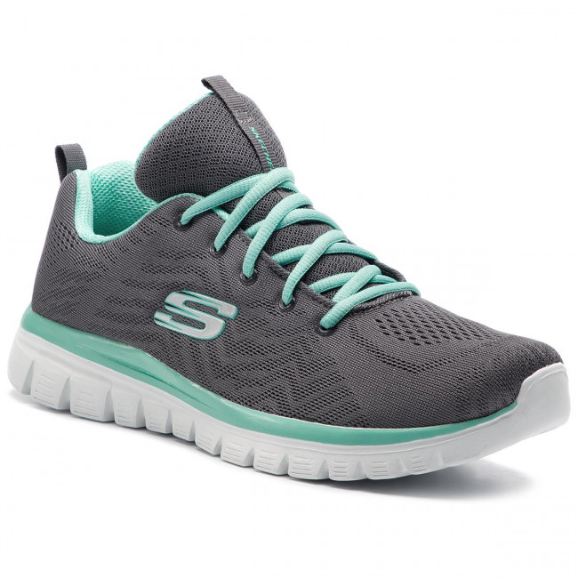 Buty SKECHERS - Get Connected 12615/CCGR Charcoal/Green