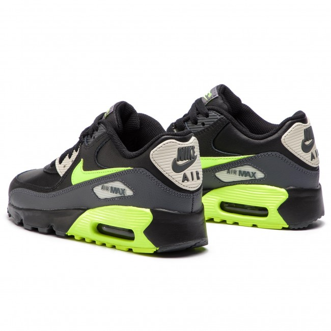 Nike Air Max 90 Leather (GS) Dark Grey Vold Black