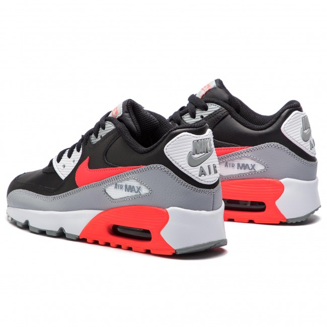 Buty NIKE Air Max 90 Ltr (GS) 833412 024 Wolf GreyBright CrimsonBlack
