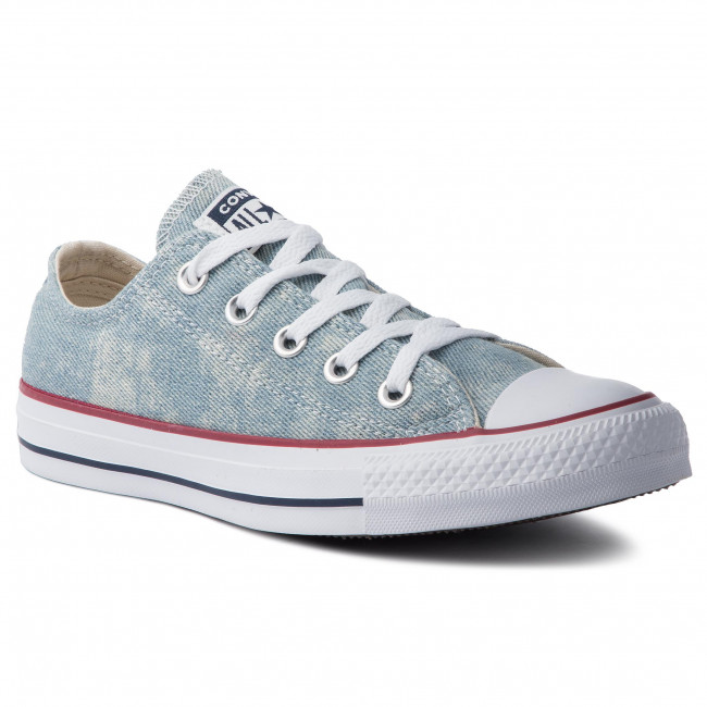 Trampki CONVERSE - Ctas Ox 163959C Washed Denim/White/White