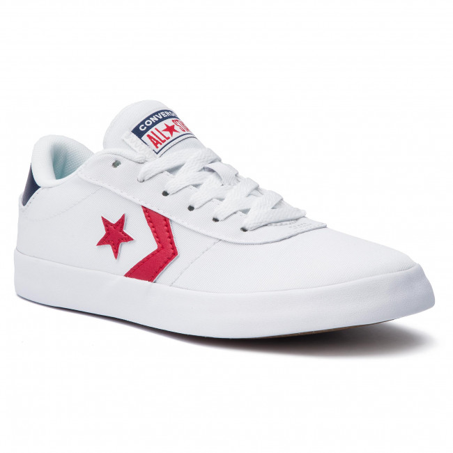 Tenisówki CONVERSE - Point Star Ox 563431C White/Enamel Red/Navy