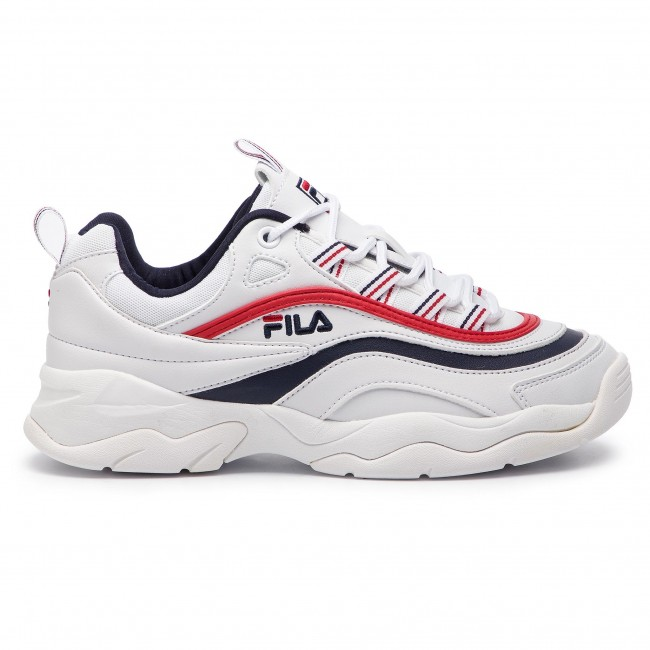 Sneakersy FILA Ray Low Wmn 1010562.150 WhiteFila NavyFila Red