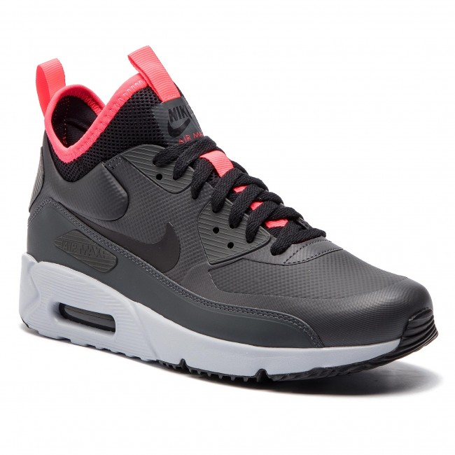Buty NIKE Air Max 90 Ultra Mid Winter 924458 003 AnthraciteBlackSolar Red