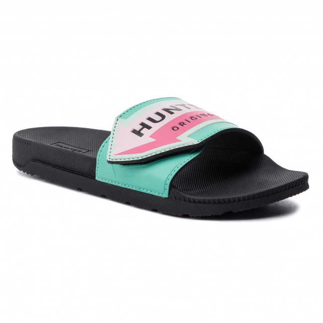 Klapki HUNTER - Adjustable Slide Arrow Print WFD4027EVA Ocean Swell