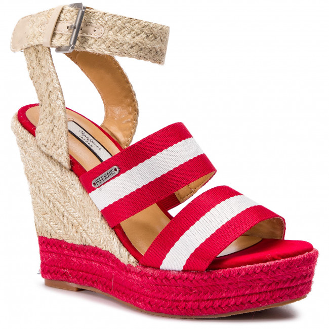 Espadryle PEPE JEANS - Ohra Tape PLS90380 Race Red 261