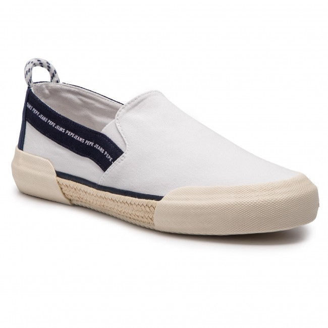 Espadryle PEPE JEANS - Cruise Slip On Men PMS10277  White 800