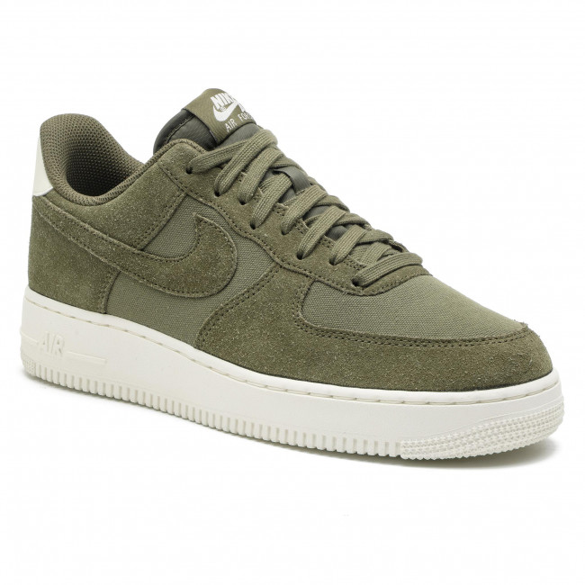 Buty NIKE - Air Force 1 '07 Suede AO3835 200 Medium Olive/Medium Olive/Sail
