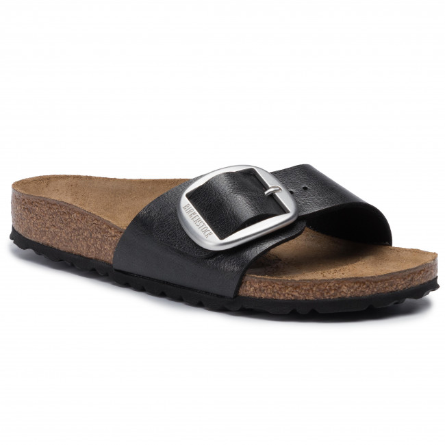 Klapki Birkenstock - Madrid Big Buckle 1015315 Graceful Licorice Komfort I Sandały Damskie