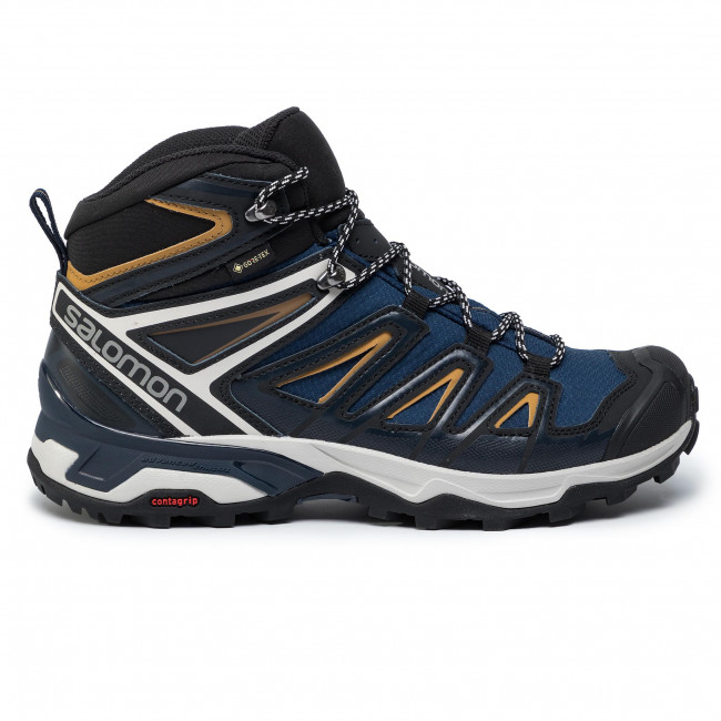 Salomon X ULTRA 3 MID GTX® Grey Black Yellow Mens Sports