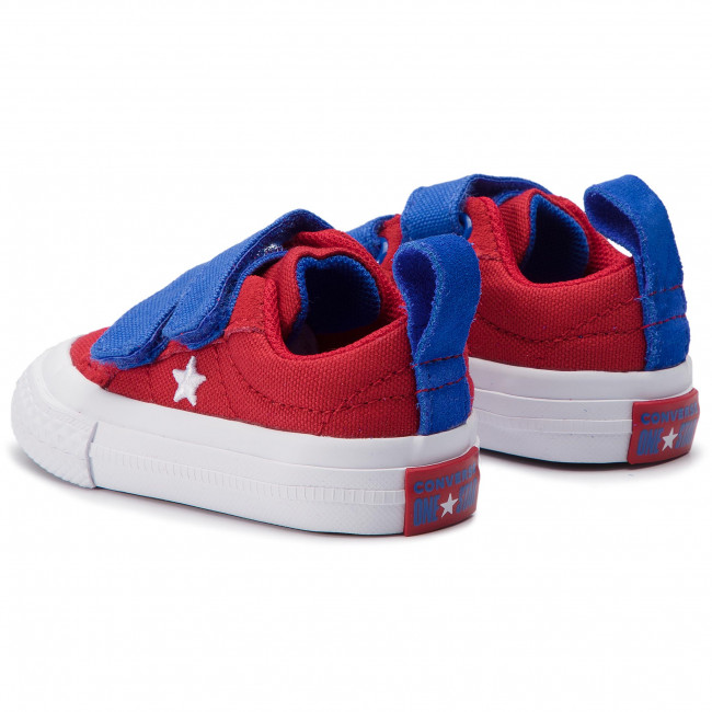 Trampki CONVERSE One Star 2V Ox 760765C Gym RedHyper RoyalWhite