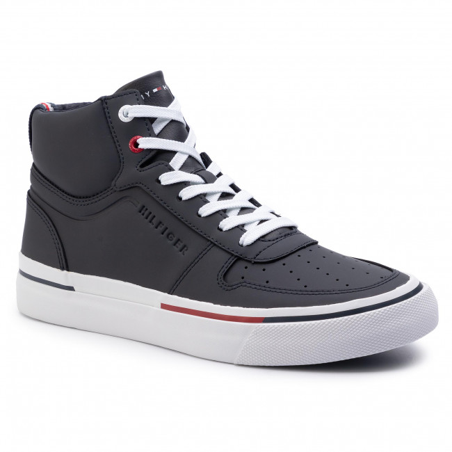 Sneakersy TOMMY HILFIGER - Core Corporate High Vulc Sneaker FM0FM02276 Midnight 403