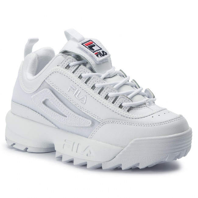 Sneakersy FILA Disruptor II Patches Wmn 5FM00538.100 White