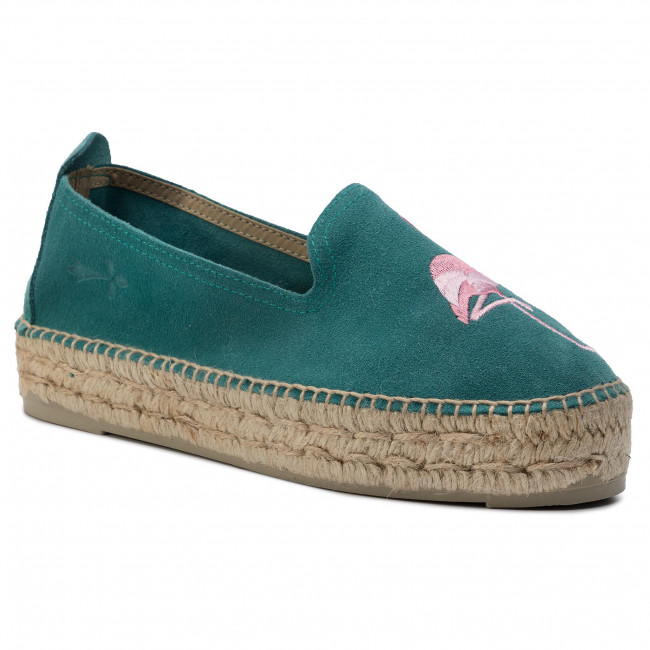 Espadryle MANEBI - Slippers D F 5.4 D0 Dark Aquamarine/Flamingo