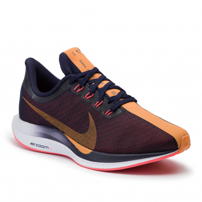 new product d6946 be89f Buty NIKE - Zoom Pegasus 35 Turbo AJ4115 486 Blackened Blue/Orange Peel