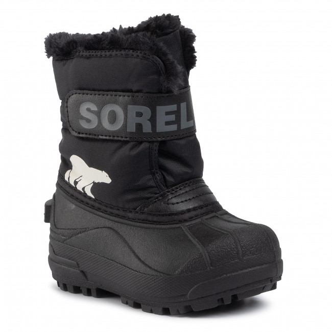 Śniegowce SOREL - Childrens Snow Commander NC1960 Black/Charcoal 010