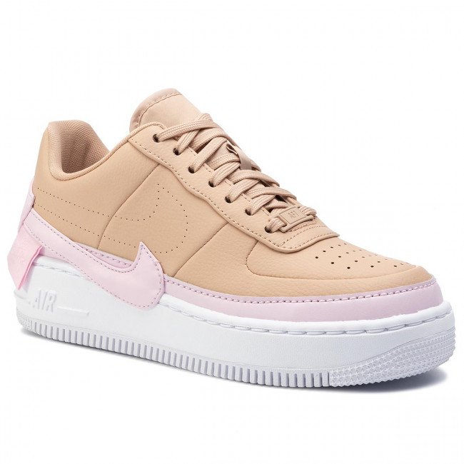Nike Air Force 1 Jester sneakers in beige and pink Bio