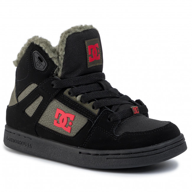 Sneakersy Dc - Youth Pure High Top Wnt Adbs100245 Black/olive Półbuty Damskie