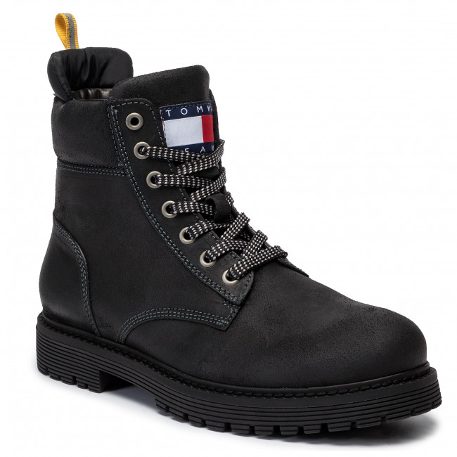 Trapery TOMMY JEANS - Outdoor Sued Boot EM0EM00317  Magnet 008