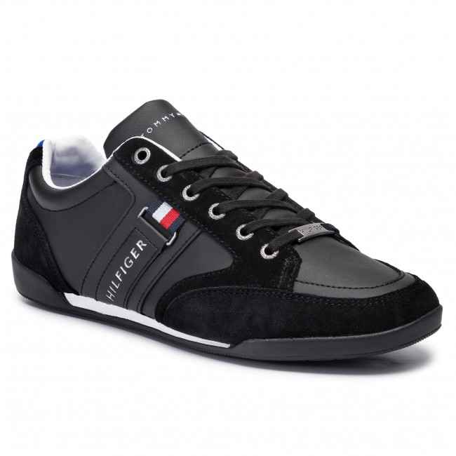 Sneakersy TOMMY HILFIGER - Corporate Material Mix Cupsole FM0FM02398 Black 990