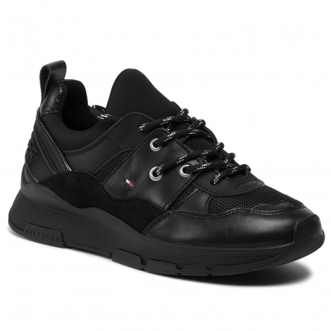 Sneakersy TOMMY HILFIGER - Sporty Chunky Sneaker FW0FW04294 Black BDS