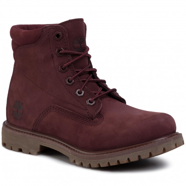 Trapery TIMBERLAND - Waterville 6 In Waterproof Boot TB0A1R2TC601 Burgundy Nubuck