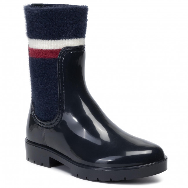 Kalosze TOMMY HILFIGER - Cosy Rainboot FW0FW04350 Midnight 403